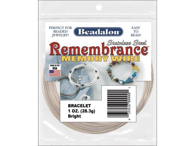 Remembrance Memory Wire Bracelet .62mm .25oz-Bright - 75 Coils