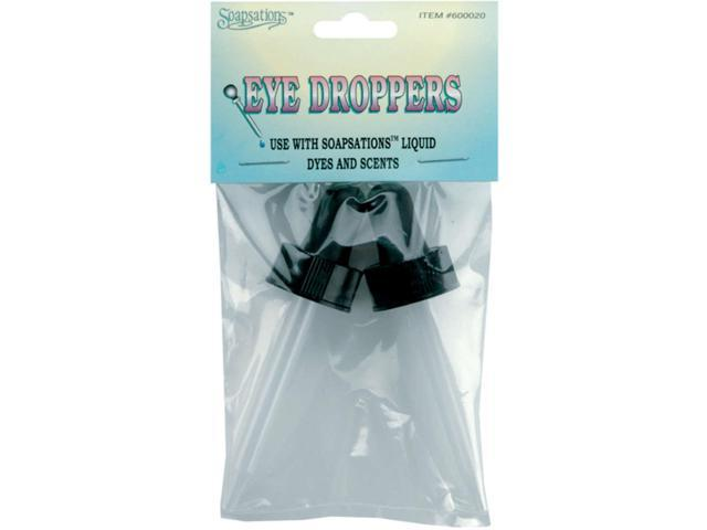 Soapsations Plastic Eye Droppers 2/Pkg-