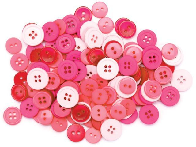 Favorite Findings Buttons 130/Pkg-Pink