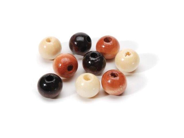 Round Wood Beads 6Mm 190/Pkg-Earth Tones