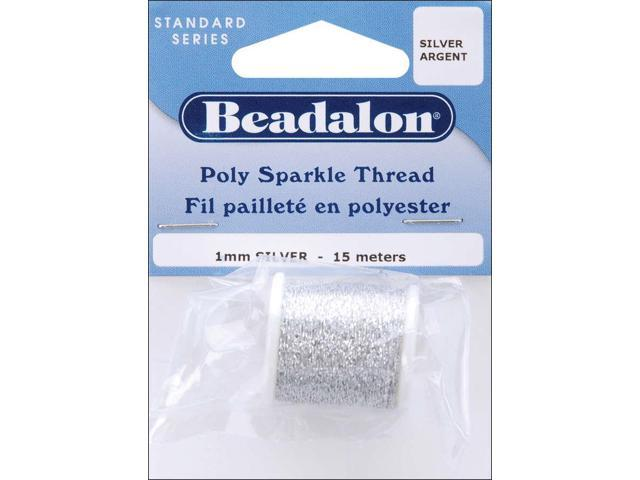 Poly Sparkle Thread 1mmX49'-Silver