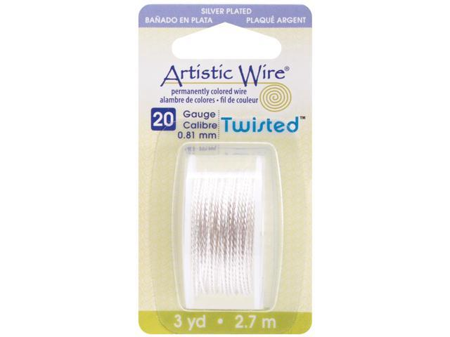 Artistic Wire Twisted-Silver - 20 Gauge, 3yd