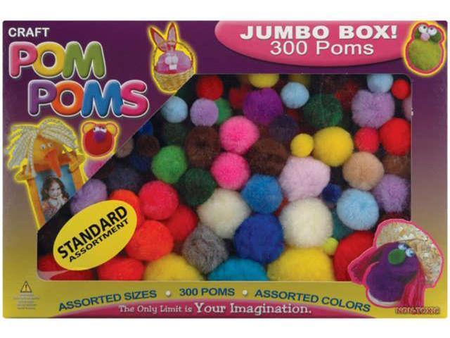 Pom-Poms Assorted 300/Pkg-Standard