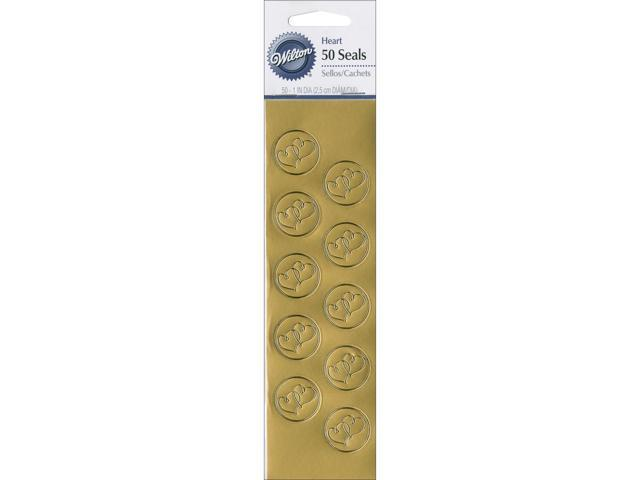 Seals 50/Pkg-Gold Heart