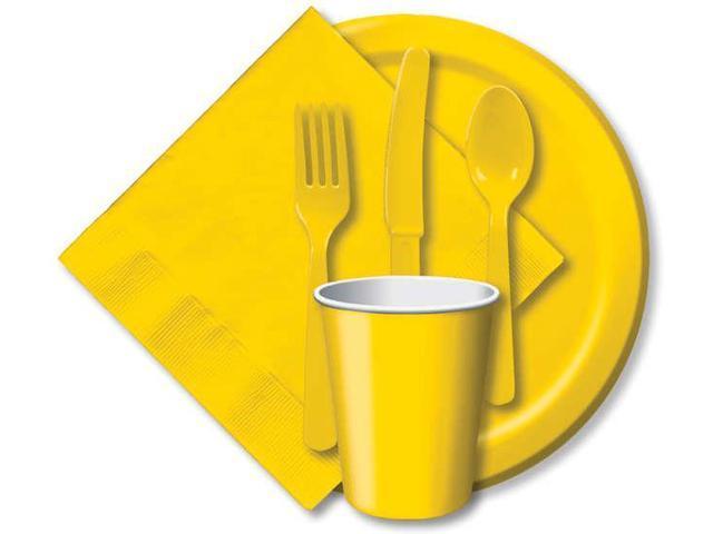 Heavy-Duty Cutlery 24/Pkg-School Bus Yellow