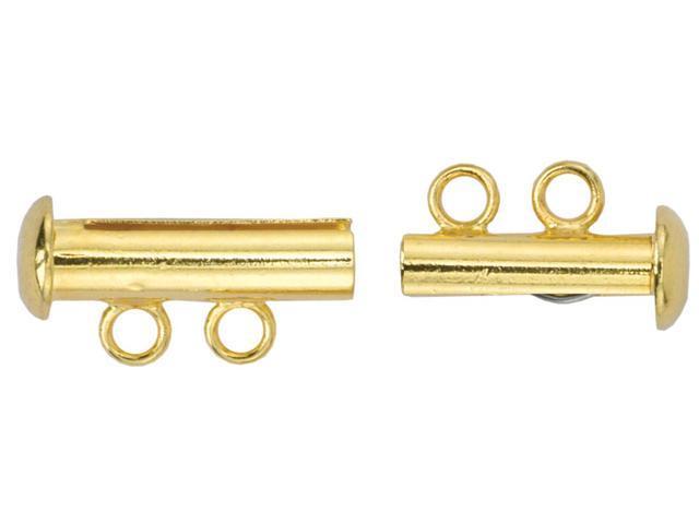 Slide Clasps 2-Strand 2/Pkg-Gold-Plated