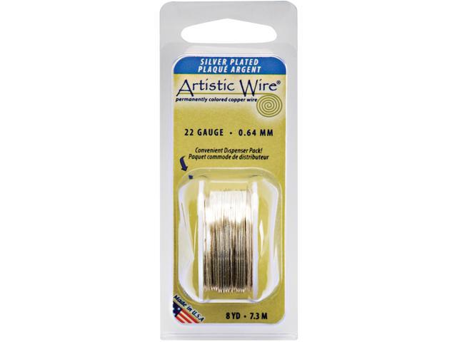 Colored Wire 22 Gauge 8 Yards/Pkg-Natural Non-Tarnish Silver