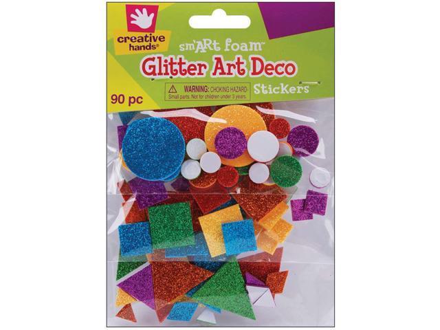 Foam Glitter Stickers 90/Pkg-Art Deco
