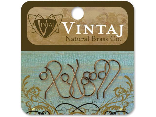 Vintaj Metal Ear Wires-French 20mmX10mm 6/Pkg