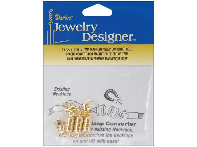 Magnetic Clasps 7mm 2/Pkg-Gold