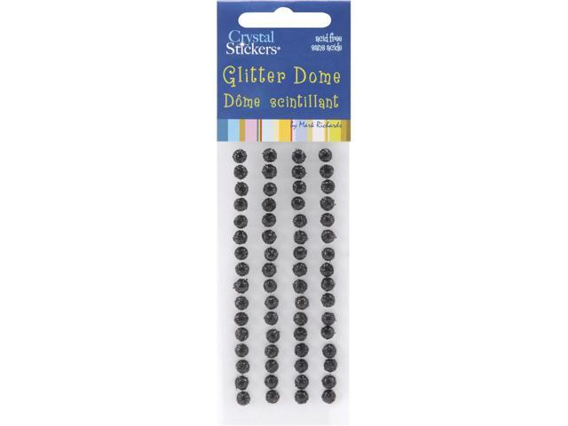 Crystal Stickers Glitter Domes 5mm 64/Pkg-Black