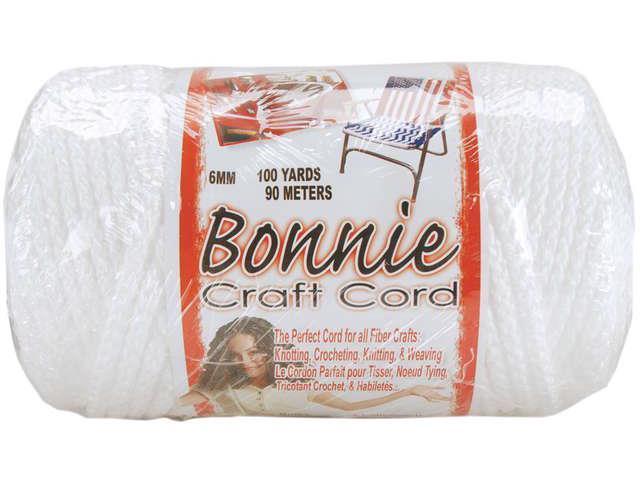 Bonnie Macrame Craft Cord 6mmX100yd-White