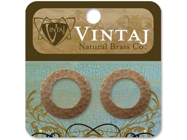 Vintaj Metal Accents -Hammered Rings 22mm 2/Pkg