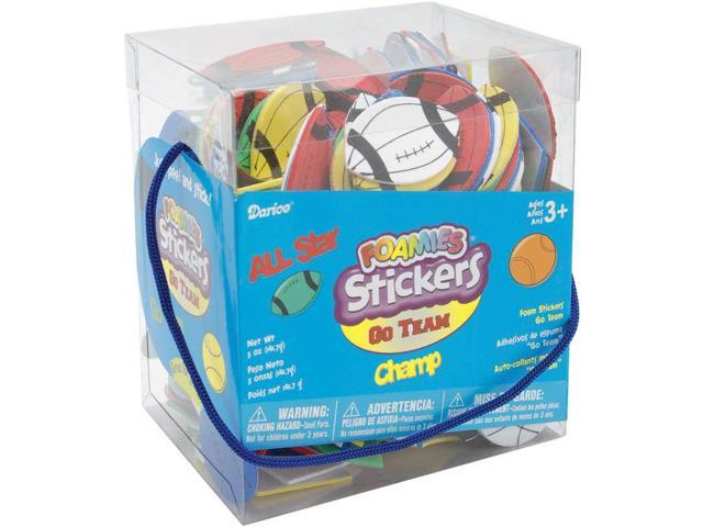 Foam Stickers 6oz-Go Team