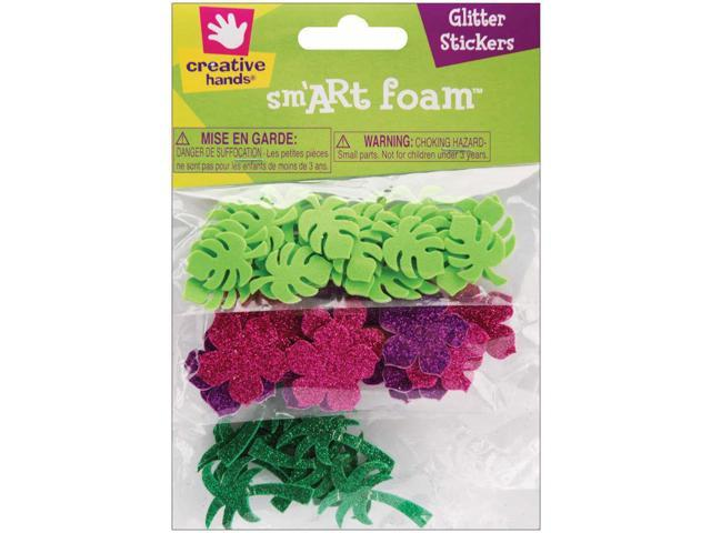 Foam Glitter Stickers 55/Pkg-Tropical