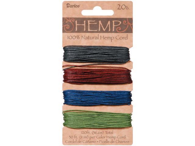 Hemp Cord 20lb 120'-Darks