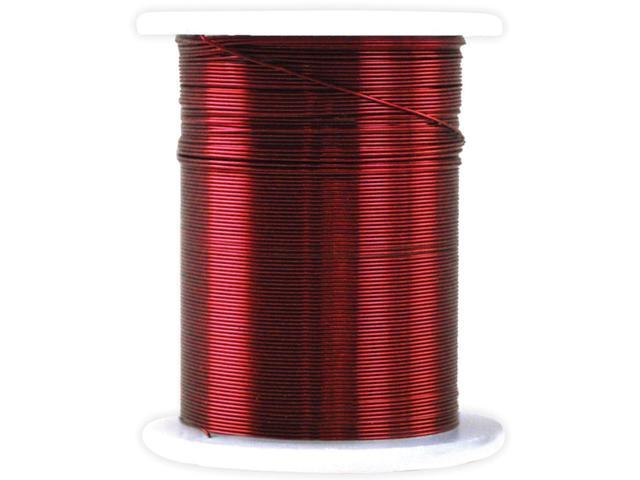 Metallic Beading & Jewelry Wire 28 Gauge 32'-Red