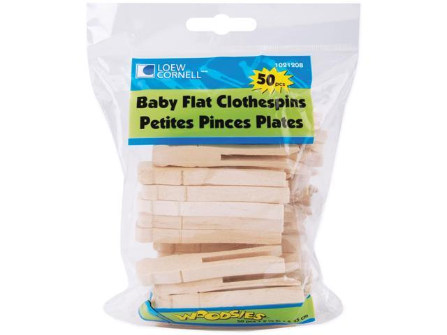 Woodsies Baby Flat Clothespins-Natural 2.5