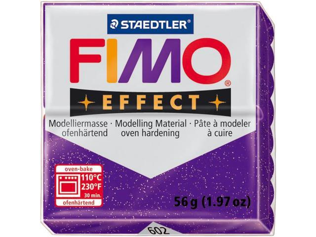 Fimo Effect Polymer Clay 2oz-Glitter Purple