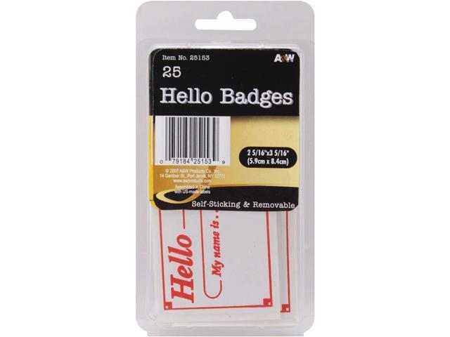 Labels-Hello Badges 2.3125