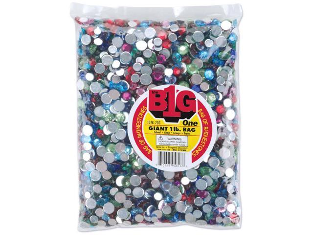 Rhinestone Shapes 1lb-Round Multi
