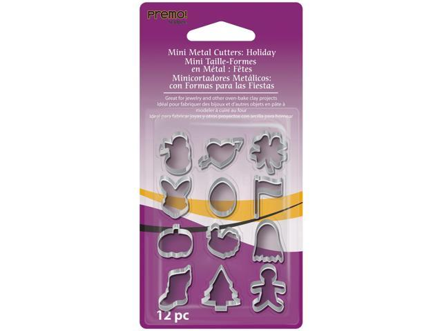 Premo Sculpey Mini Metal Cutters 12/Pkg-Holiday