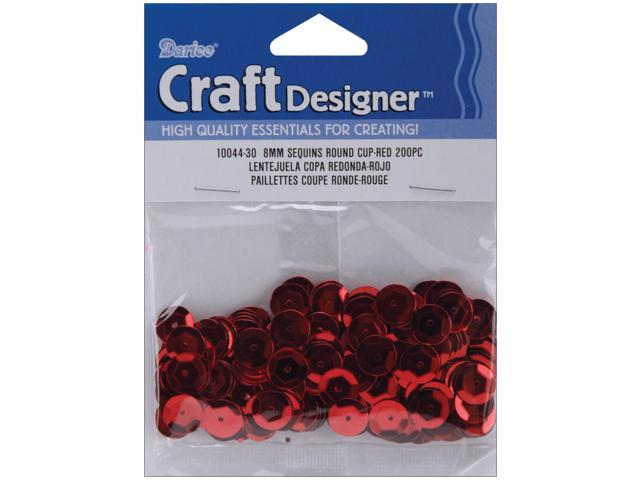 Cupped Sequins 8mm 200/Pkg-Red