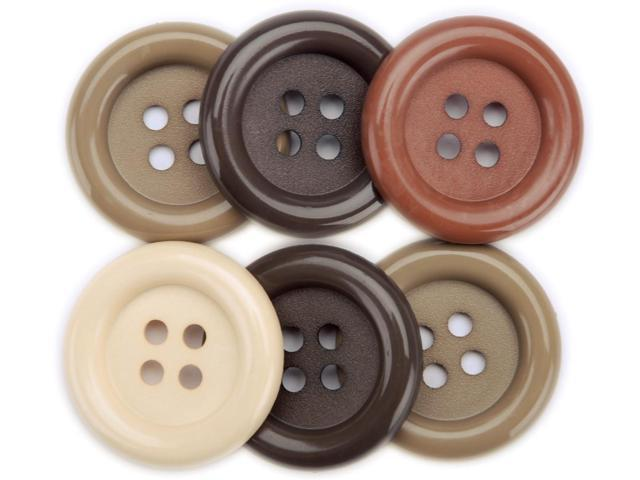 Favorite Findings Big Buttons 6/Pkg-Nature