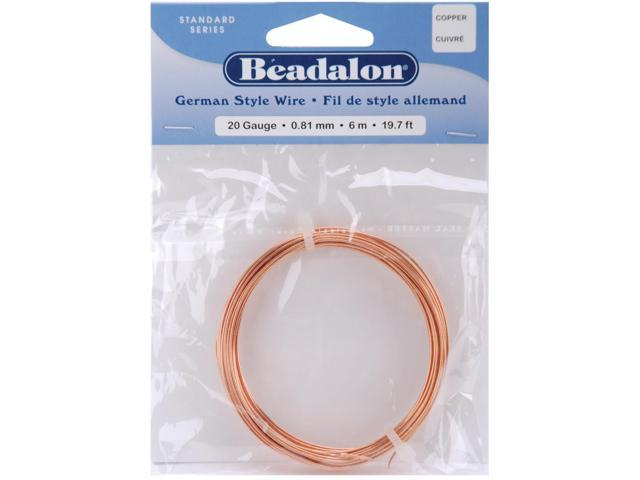 German Style Wire-Copper Round - 20 Gauge, 19.7'