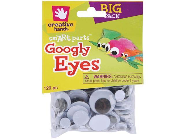 Glue-On Googly Eyes Assorted 5mm To 30mm 120/Pkg-Black
