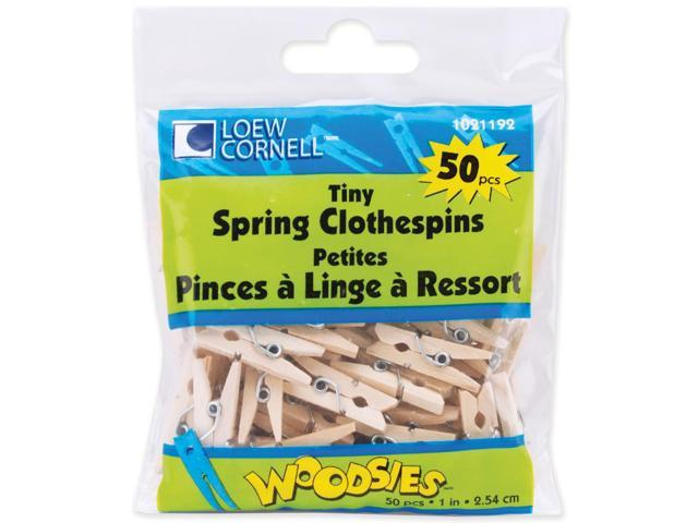 Woodsies Tiny Spring Clothespins-Natural 1