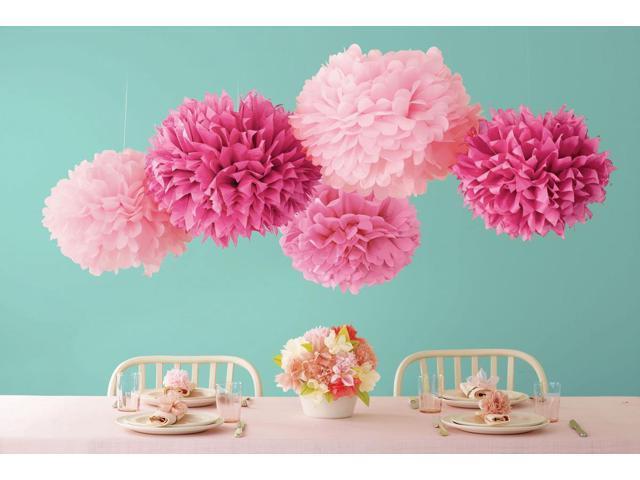 Tissue Paper Pom-Pom Kit Makes 5-Pink