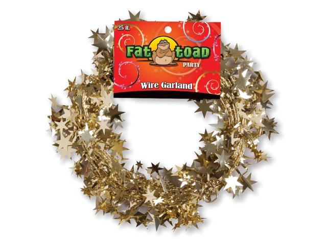 Fat Toad Wire Garland 25'-Gold Stars