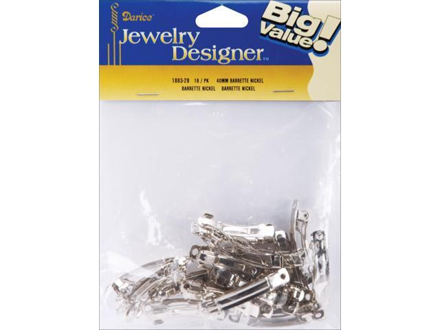 Barrettes 40mm 18/Pkg-Nickel