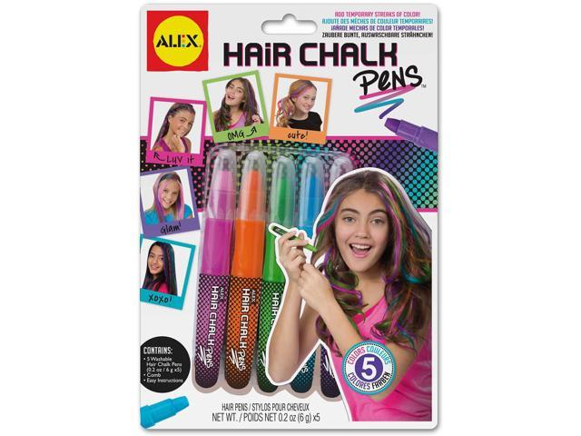 Hair Chalk Pens 5/Pkg-Assorted Colors