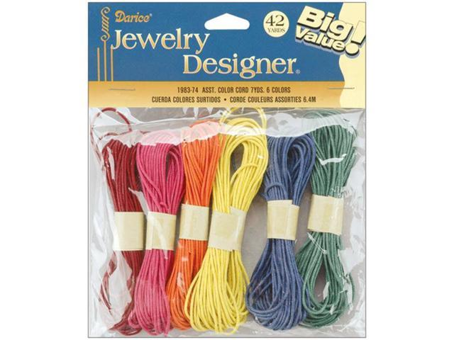 Color Cord Pack 7yd 6/Pkg-Assorted Colors