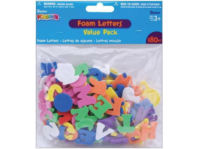 Foam Stickers 180/Pkg-Alphabet