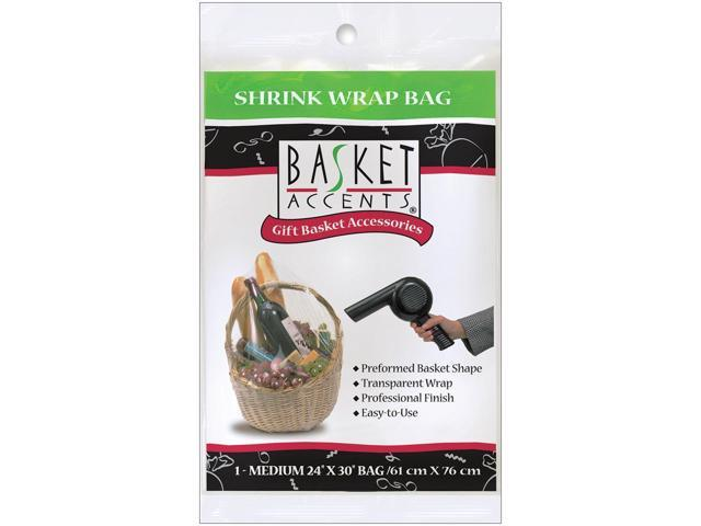 Basket Accents Shrink Wrap Bag Medium 24