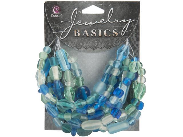 Jewelry Basics Glass Beads 50g-Aqua