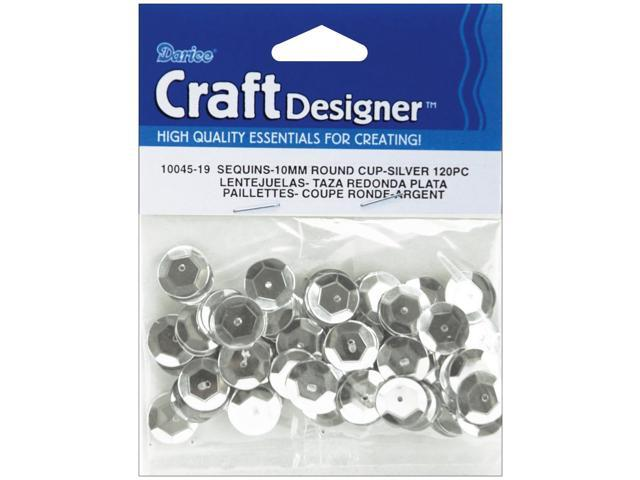 Cupped Sequins 10mm 120/Pkg-Silver
