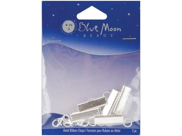 Blue Moon Large Plated Metal Ribbon Findings 3/Pkg-Silver
