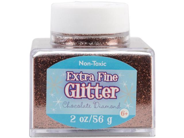 Fine Glitter 2 Ounces-Chocolate