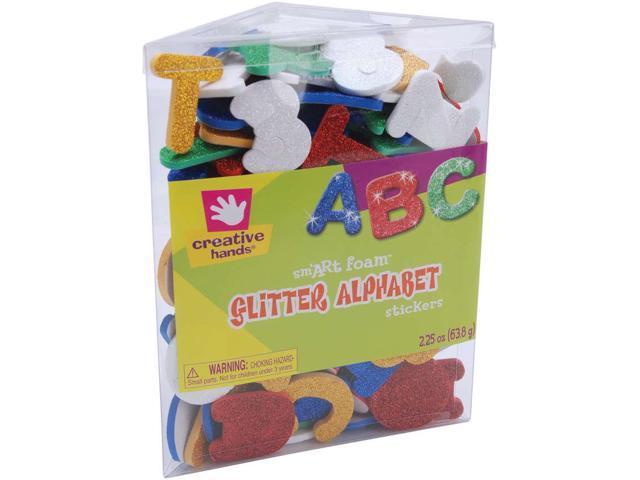 Foam Glitter Stickers 2.25oz-Alphabet