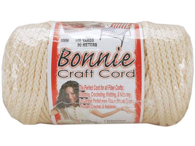 Bonnie Macrame Craft Cord 6mmX100yd-Flesh (Cream)