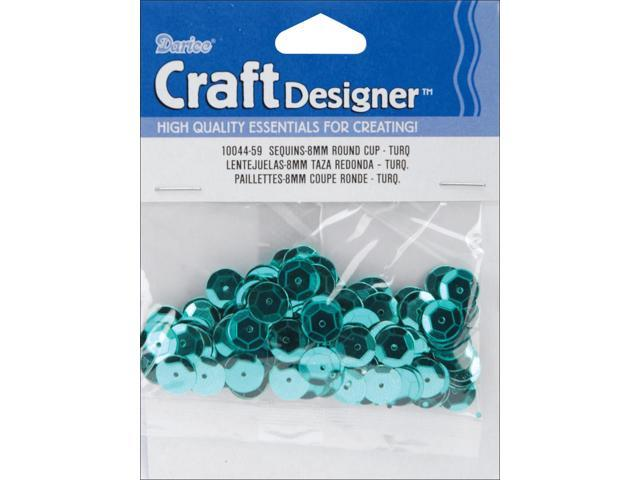 Cupped Sequins 8mm 200/Pkg-Turquoise-Peacock