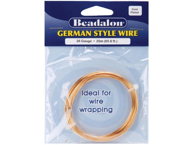 German Style Wire-Gold Round - 26 Gauge, 65.6'