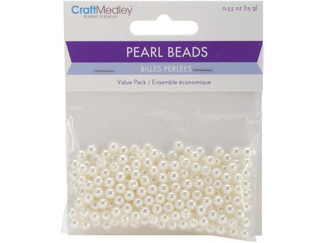 Pearl Beads Value Pack-5Mm Ivory 265/Pkg