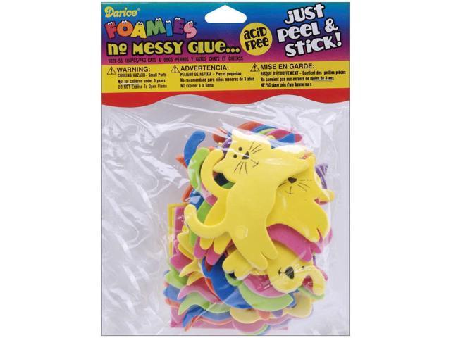 Foam Stickers 160/Pkg-Cats & Dogs