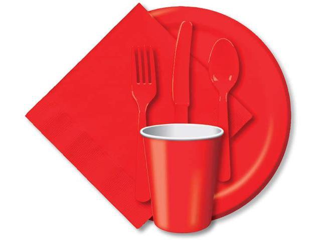 Heavy-Duty Cutlery 24/Pkg-Classic Red