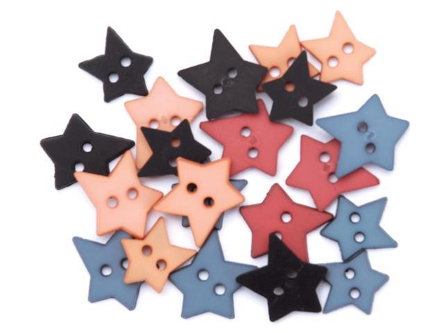Favorite Findings Buttons-Heritage Stars 23/Pkg